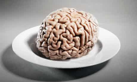 Human brain on a plate
