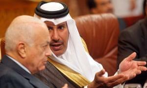 Qatari prime minister Sheikh Hamad bin Jassem bin Jabr al-Thani
