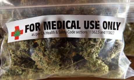 A one-ounce bag of medicinal marijuana