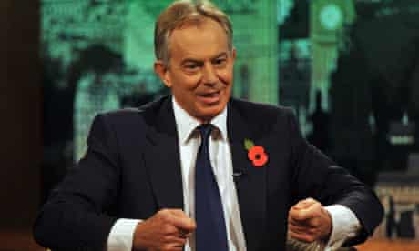 Tony Blair Appears On The Andrew Marr Show