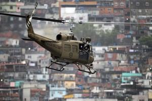 Rio raid: paramilitary helicopter