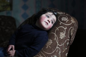 After the thaw: Armenia: One of Hasmik Josephyan's five children sits in the family home