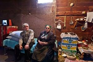 After the thaw: Azerbaijan: Tahir Imanov, 53, and his mother Ofelia, 73