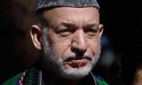 Aghanistan president Hamid Karzai