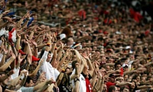 Mexican wave at a football match