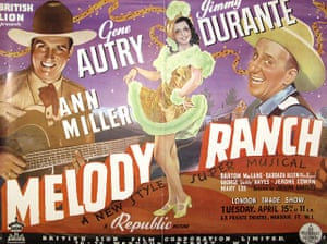 Film Poster Exhibition: Melody Ranch poster
