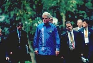 APEC Summit: 16 October 2000: Bill Clinton at the APEC summit in Brunei