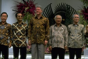 APEC Summit: 1 November 1994: Bill Clinton during the APEC Summit in Bogor