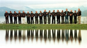 APEC Summit: 25 November 1997: APEC leaders pose for a photo in Vancouver, Canada