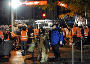 Occupy Wall St eviction: Sanitation workers clear the 'Occupy Wall Street' protest