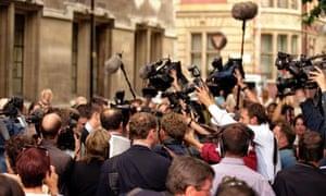 Media Scrum London England UK