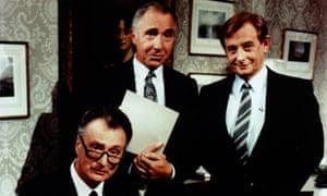 Nigel Hawthorne as Sir Humphrey Appleby in Yes, Prime Minister