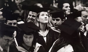 A graduation ceremony at Brighton University in the 1980s