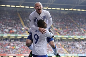 Euro 2012 qualifiers: Wayne Rooney celebrates after scoring for England against Wales