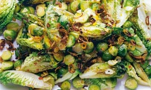 Roasted brussels sprouts with hoisinsauce