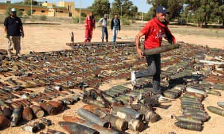 Gaddafi's unexploded weapons