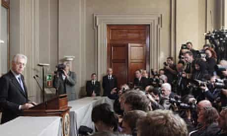 Mario Monti announces names of his new cabinet