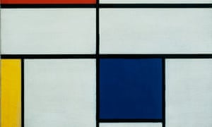 Mondrian's Composition C with Red Yellow and Blue