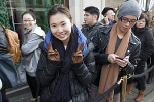 Versace for H&M: Emily Xiang queues for Versace and H&M