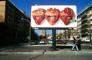 Benetton adverts: A Benetton anti racism advert in Rome, 1996