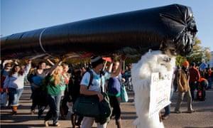 Keystone XL tar sands oil pipeline protest