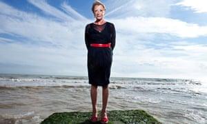 Estela Welldon on Brighton beach.
