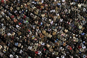 24 hours in pictures: Cairo, Egypt: Protesters pray in Tahrir Square