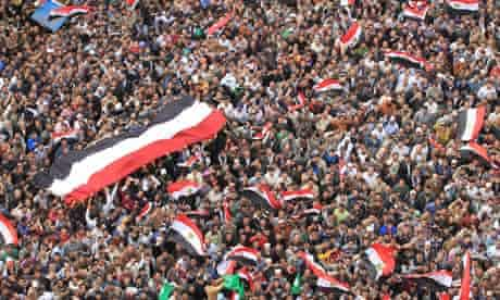Egyptians in Tahrir Square, Cairo