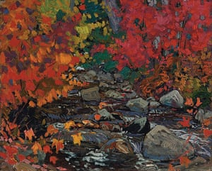 Tom Thompson: Autumn Leaves, Batchewana Woods, Algoma