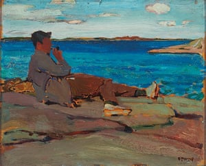 Tom Thompson: Peter Sandiford at Split Rock, Georgian Bay