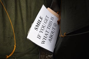 Signs at Occupy London: smile