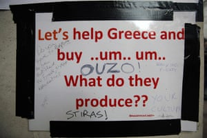 Signs at Occupy London: Greece