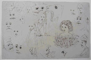 Alice in Wonderland Tate: Sketches of heads, by Charles L. Dodgson