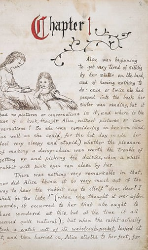 Alice in Wonderland Tate: Page from the original manuscript of Alice