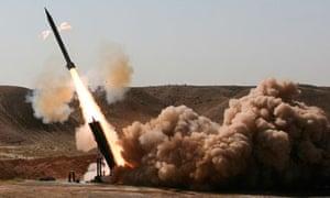 Iran test-fires short-range missile