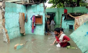 Aftermath of floods unleashed by a tropical cyclone in Pakistan