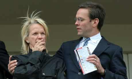 Elisabeth and James Murdoch