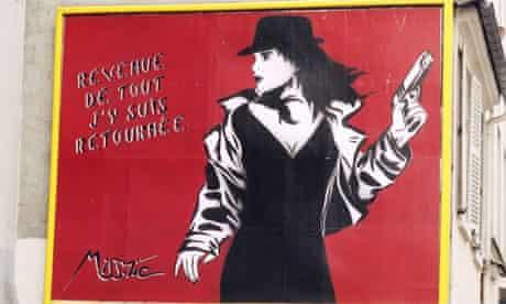 Artwork by Miss Tic, Paris