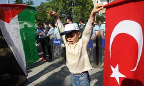 Turkey, protest at Gaza blockade 2010