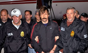 Viktor Bout on his extradition flight in 2010