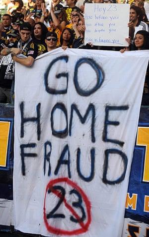 Beckham: Los Angeles Galaxy fans, hostiles to Dav