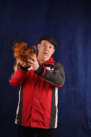 National Poultry show: Participant in The National Poultry Show, Stoneleigh, UK