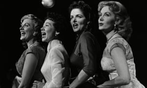 Beryl Davis, Connie Haines, Jane Russell and Rhonda Fleming performing in 1954