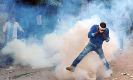 Clashes in Tahrir square