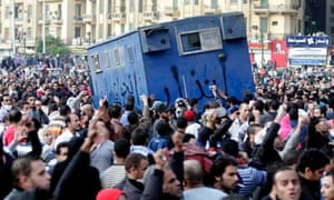 Egyptian protesters in Cairo
