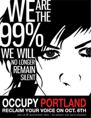 Occupy posters: A poster for the Occupy Portland campaign