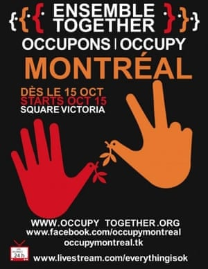 Occupy posters: Occupy Montreal