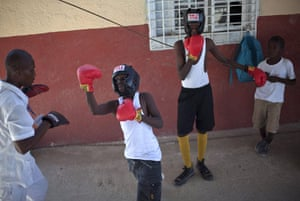 24 hours in pictures: Port-au-Prince, Haiti: Young boxers train at the L'Athletique d'Haiti