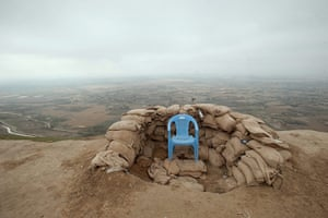24 hours in pictures: Pol-e Khomri, Afghanistan: Unoccupied chair at an Afghan observation post