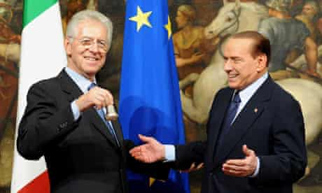 Mario Monti and Silvio Berlusconi